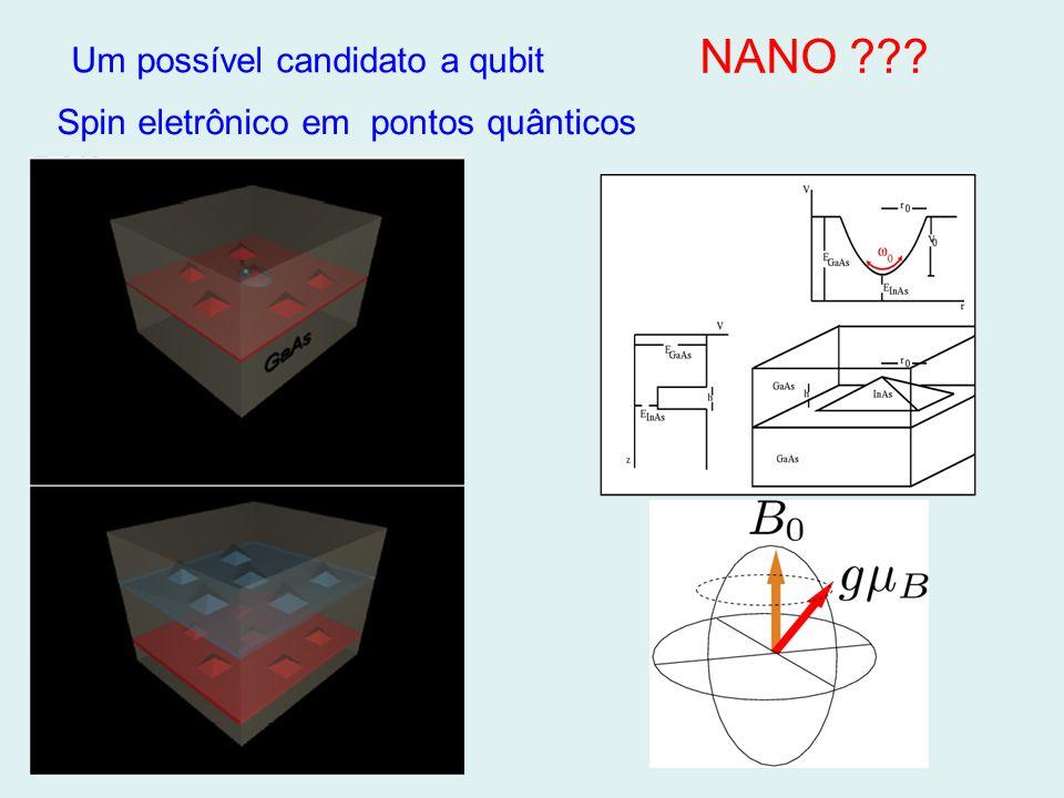 Spin eletrônico em pontos quânticos Um possível candidato a qubit NANO ???
