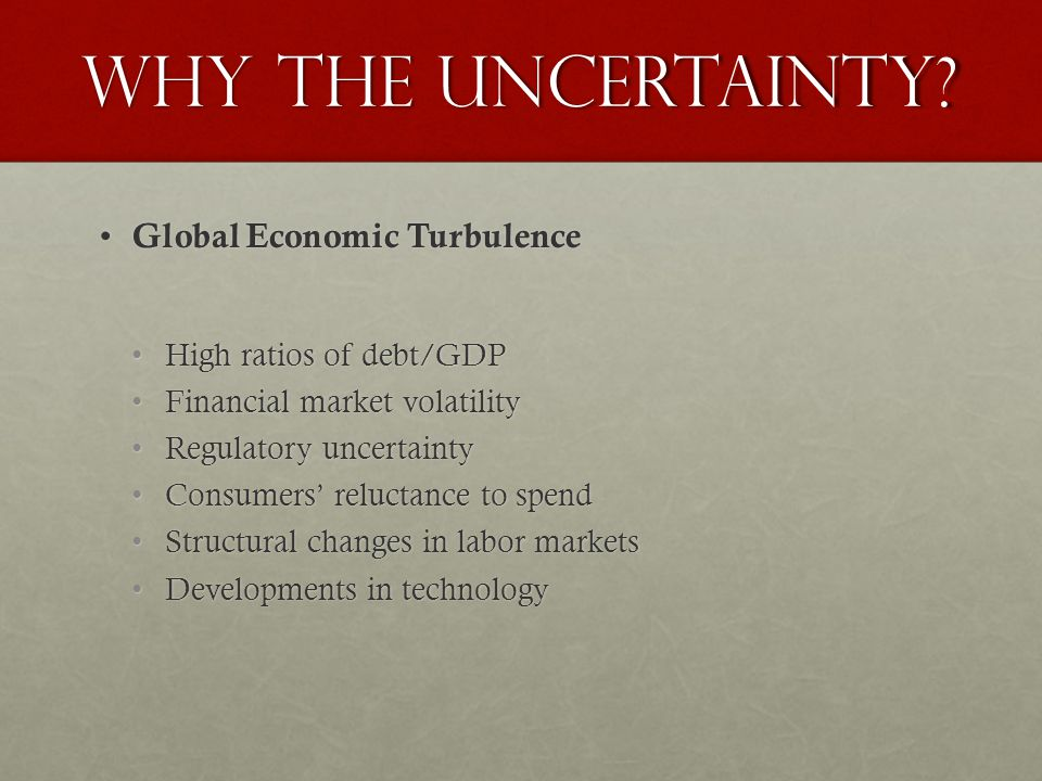 Why the Uncertainty.