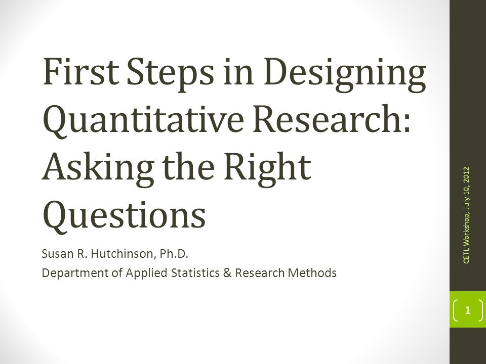 Question Writing Exercise Consider a quantitative study you might conduct Think about the overall purpose and how the research questions will help support the purpose You are to compose at least two research questions, each of which should include a dependent variable and one or more independent variables.