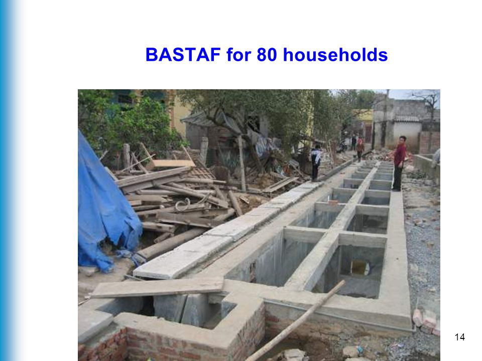 14 BASTAF for 80 households