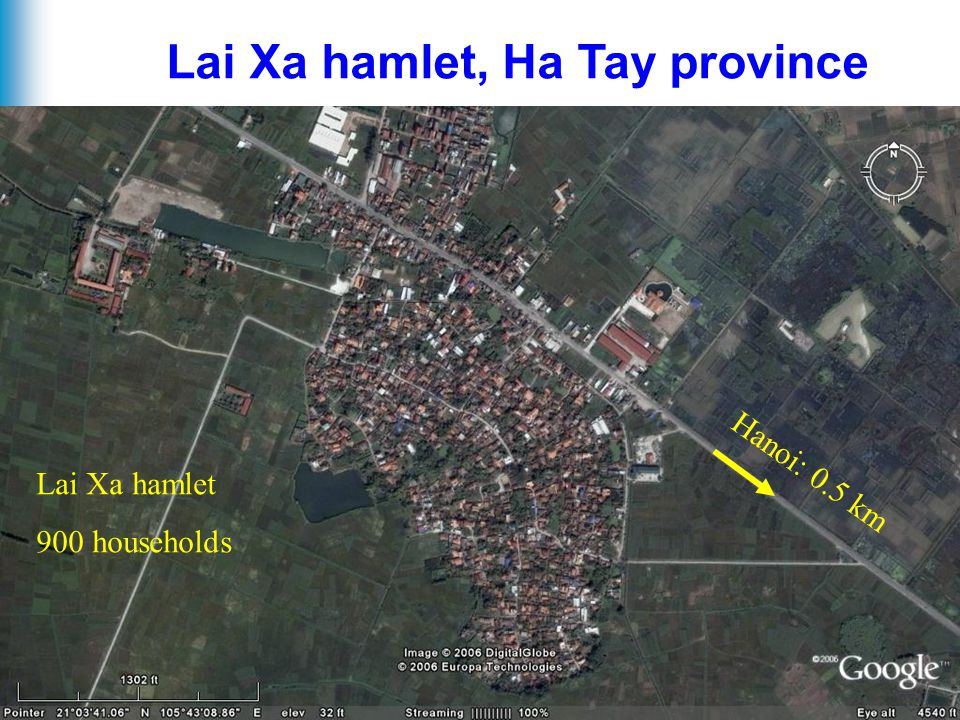 5 Lai Xa hamlet, Ha Tay province Hanoi: 0.5 km Lai Xa hamlet 900 households