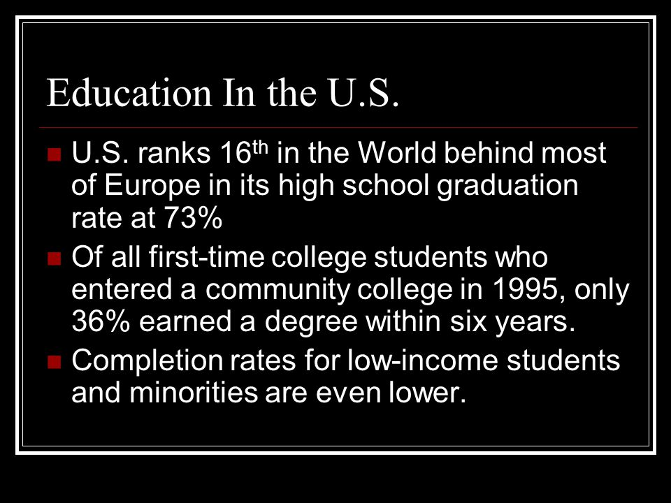 Education In the U.S.U.S.