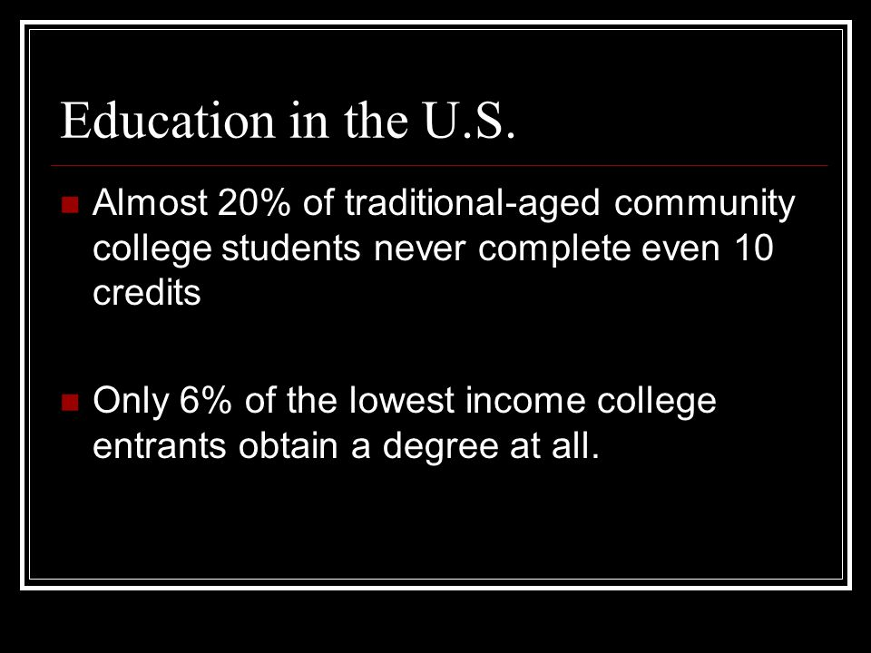 Education in the U.S.