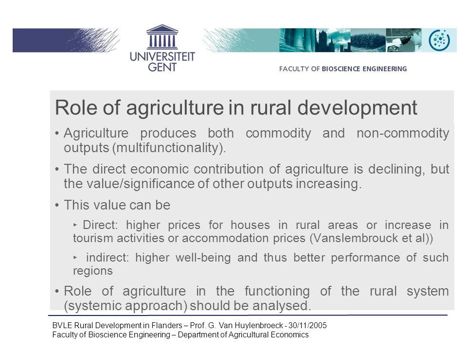 BVLE Rural Development in Flanders – Prof. G.