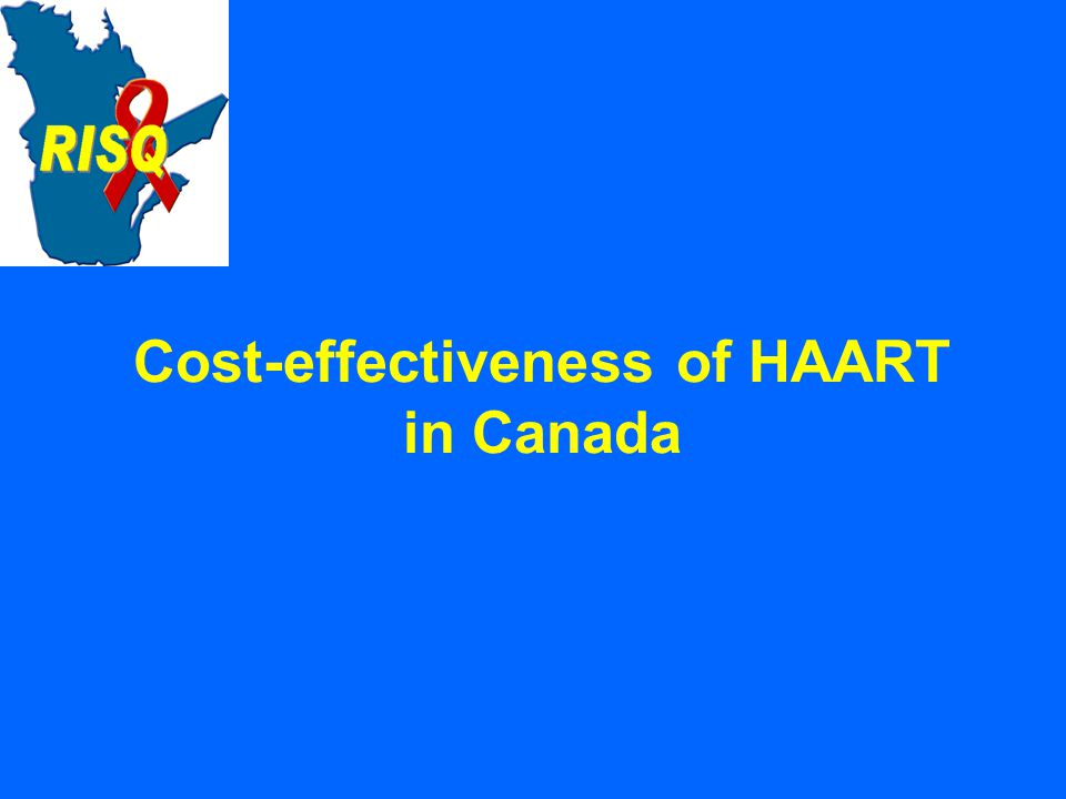 Cost-effectiveness of HAART in Canada