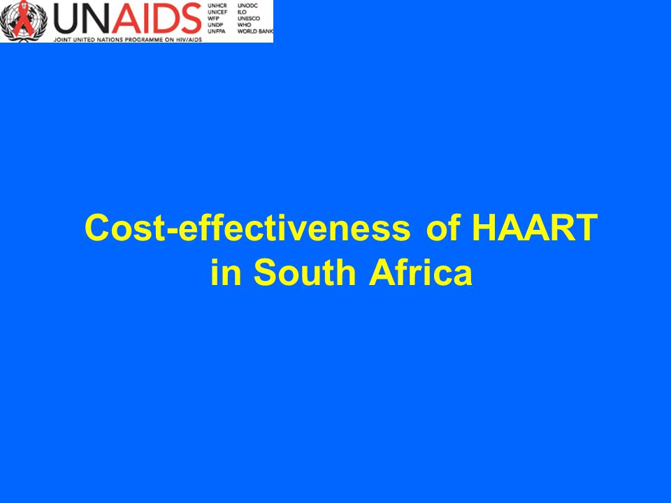 Cost-effectiveness of HAART in South Africa
