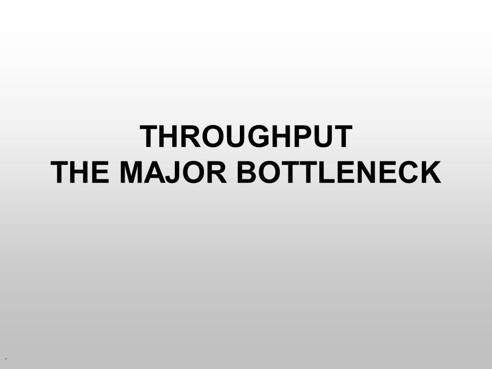 . THROUGHPUT THE MAJOR BOTTLENECK