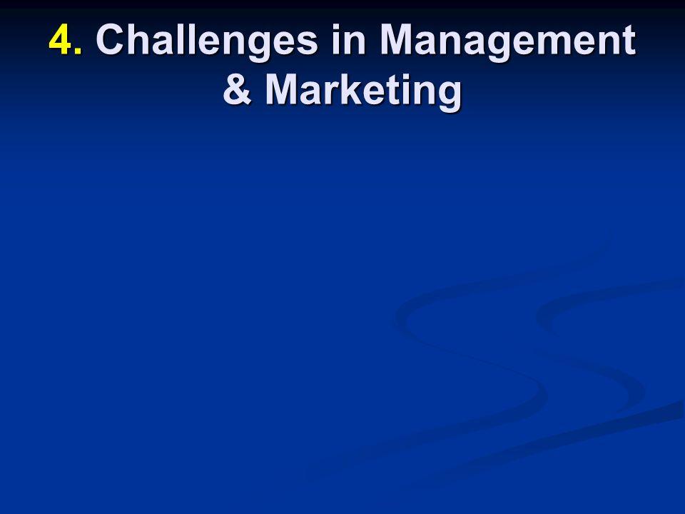 4. Challenges in Management & Marketing