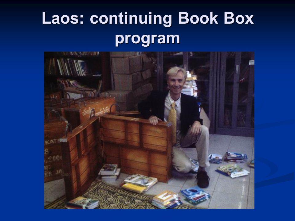 Laos: continuing Book Box program