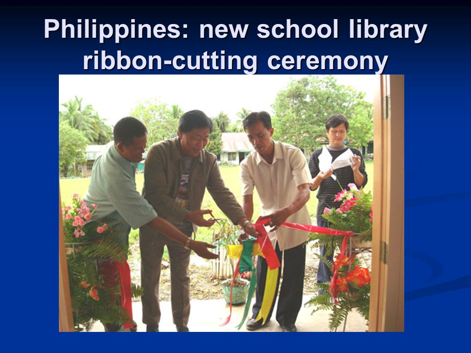 Philippines: new school library ribbon-cutting ceremony