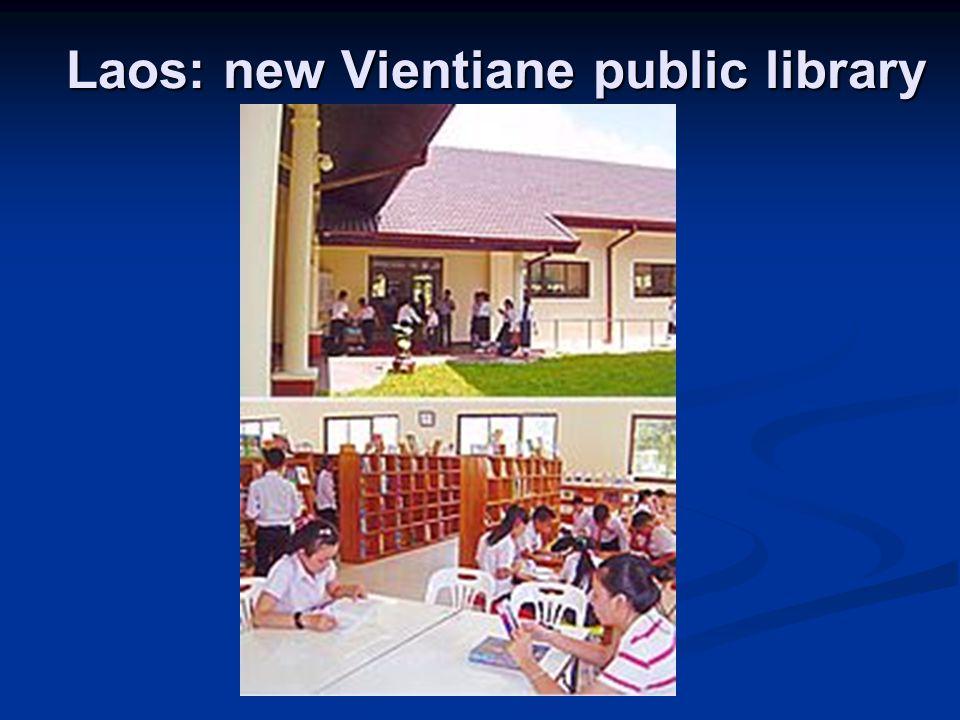 Laos: new Vientiane public library