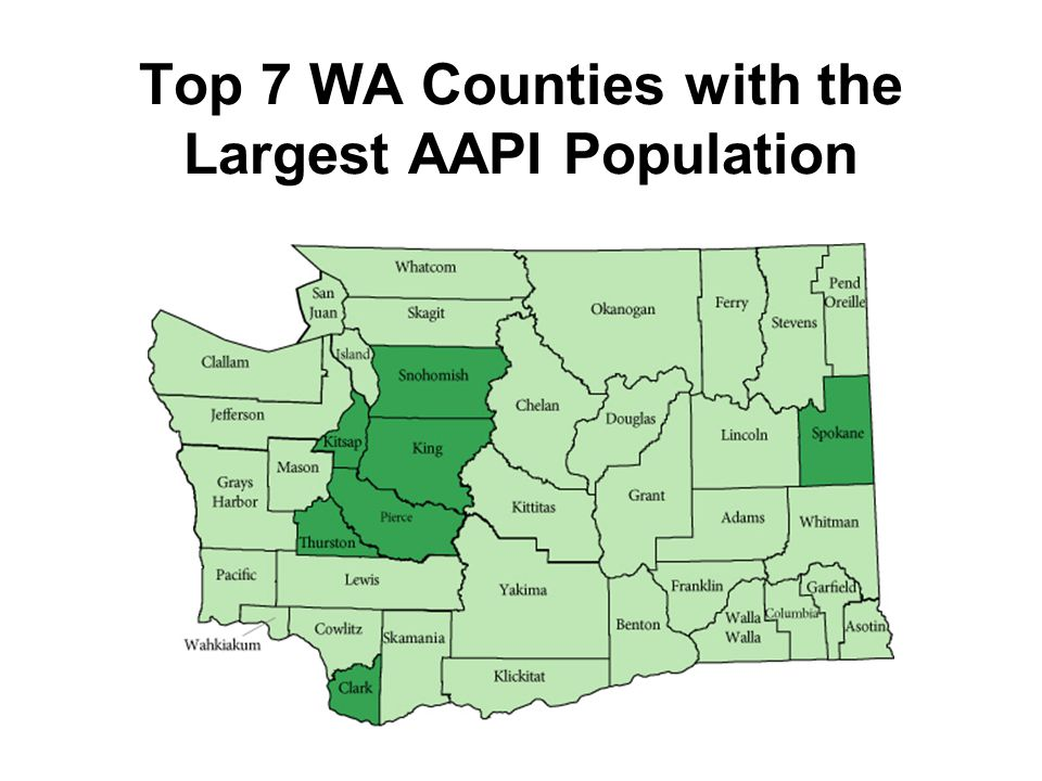Top 7 WA Counties with the Largest AAPI Population