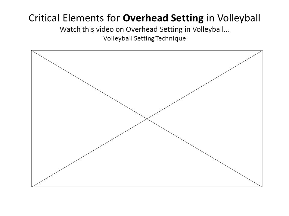 Critical Elements for Overhead Setting in Volleyball Watch this video on Overhead Setting in Volleyball… Volleyball Setting Technique