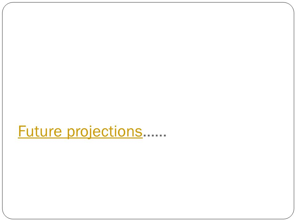 Future projectionsFuture projections……