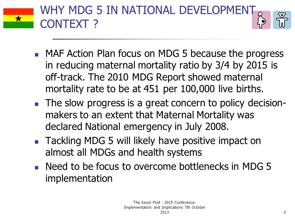 WHY MDG 5 IN NATIONAL DEVELOPMENT CONTEXT .