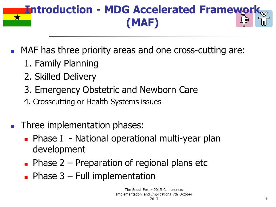 MAF has three priority areas and one cross-cutting are: 1.