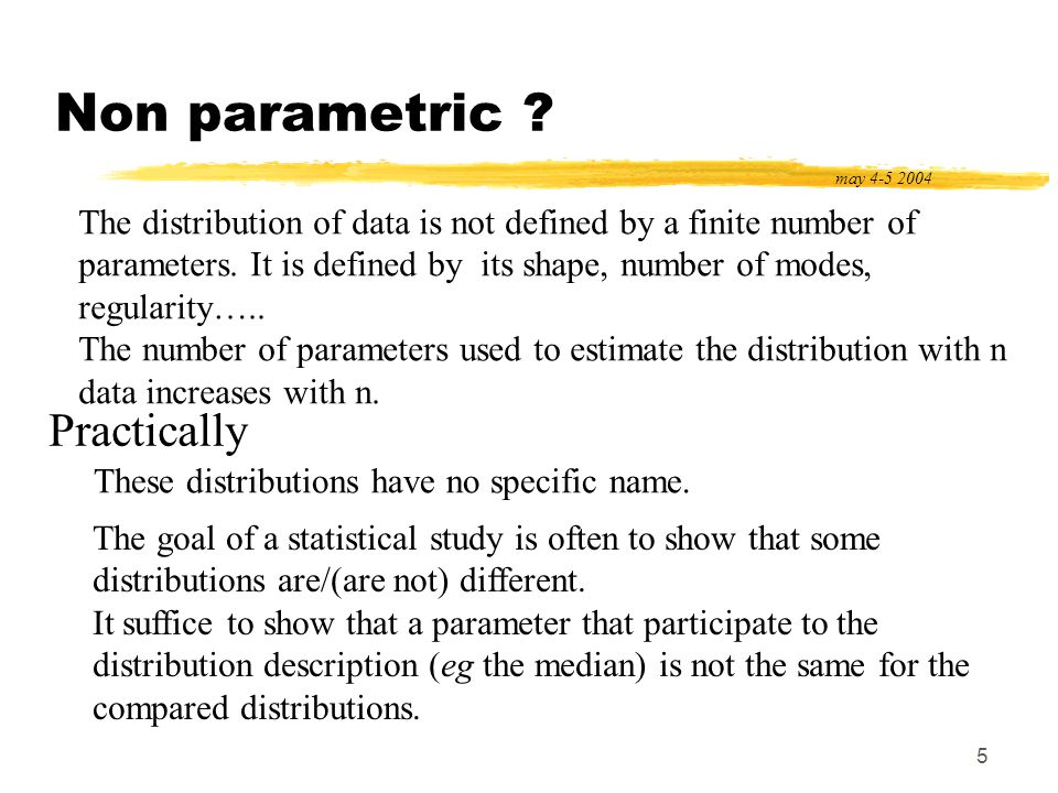 16 Fundamental assumptions : Normality may 4-5 2004 Normality The random variables implied in the analysis are normally distributed.