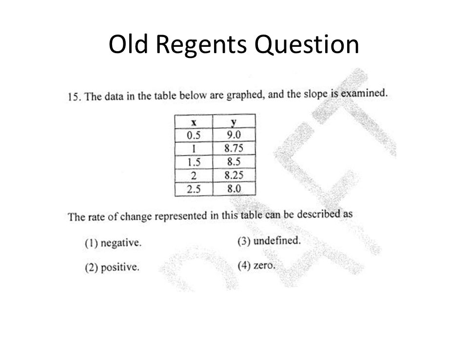Old Regents Question