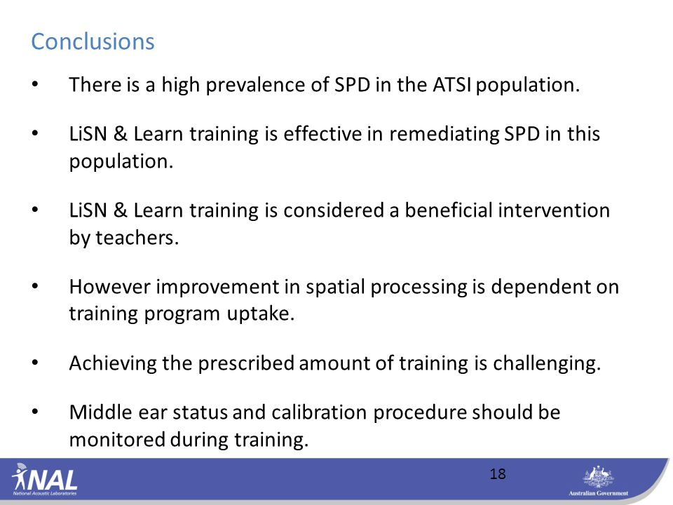 18 There is a high prevalence of SPD in the ATSI population.