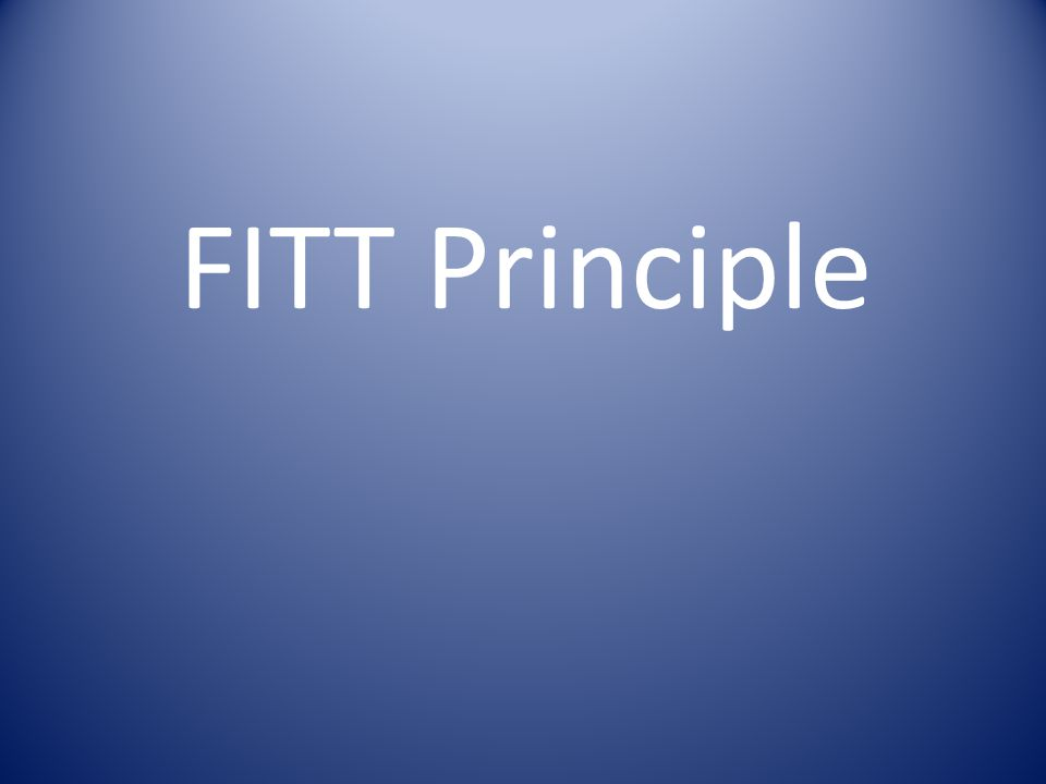 FITT Guideline The FITT guidelines provide the recipe for safely applying the previously described principles safely.