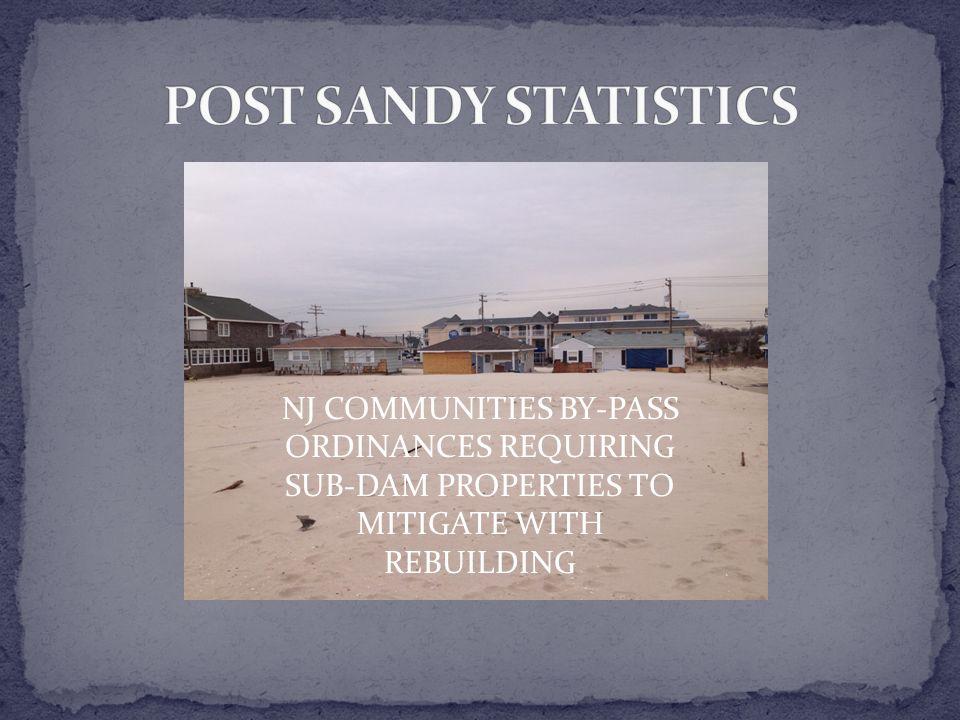 NJ COMMUNITIES BY-PASS ORDINANCES REQUIRING SUB-DAM PROPERTIES TO MITIGATE WITH REBUILDING