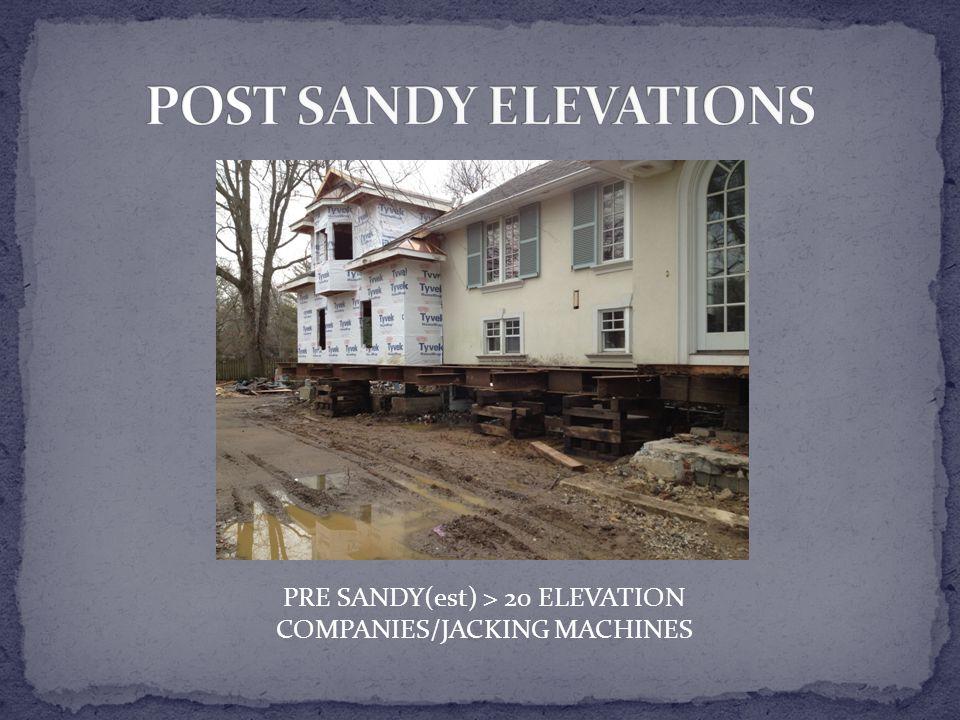 PRE SANDY(est) > 20 ELEVATION COMPANIES/JACKING MACHINES
