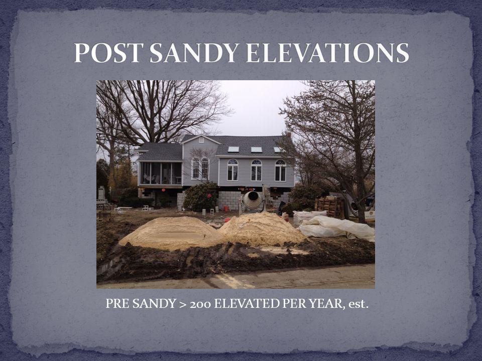 PRE SANDY > 200 ELEVATED PER YEAR, est.