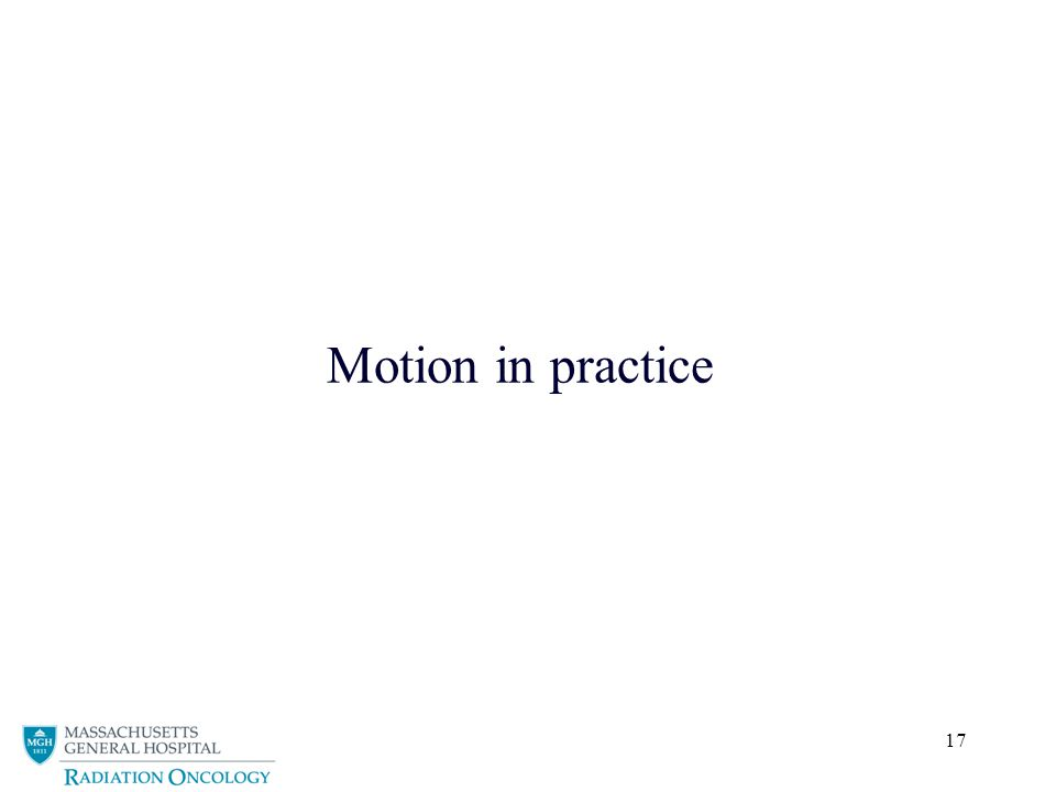 17 Motion in practice