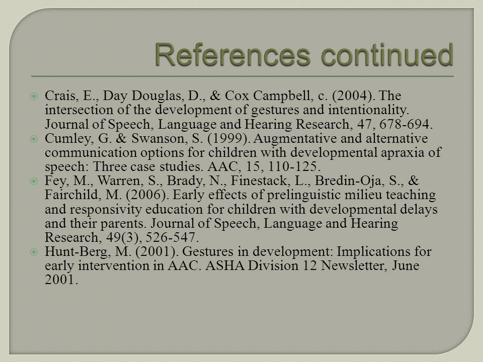 Blishak, D. (2000). Increases in natural speech production following experience with synthetic speech. Journal of Special Education Technology, 14, 47