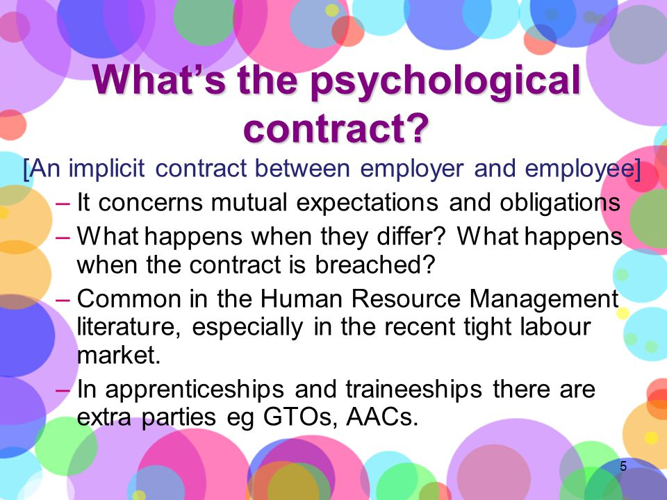 Whats the psychological contract.