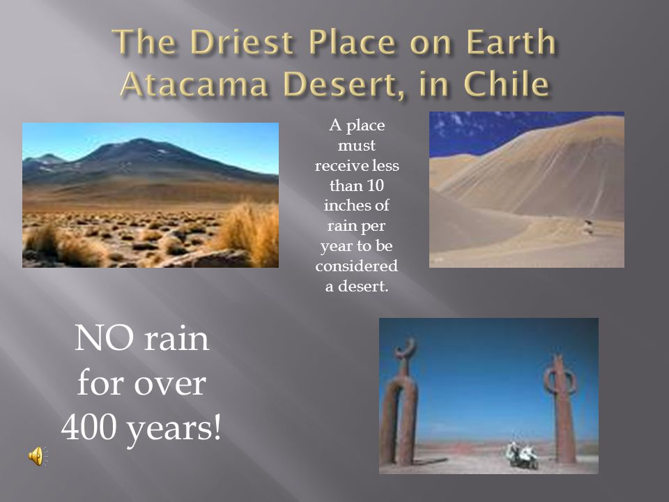 The WETTEST place on earth.
