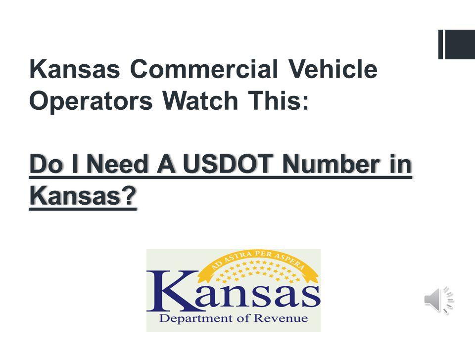 Do I Need A USDOT Number in Kansas.