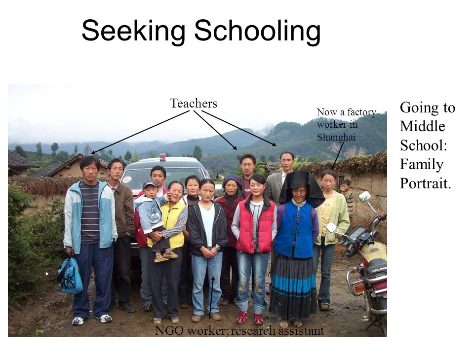 Seeking Schooling Going to Middle School: Family Portrait.