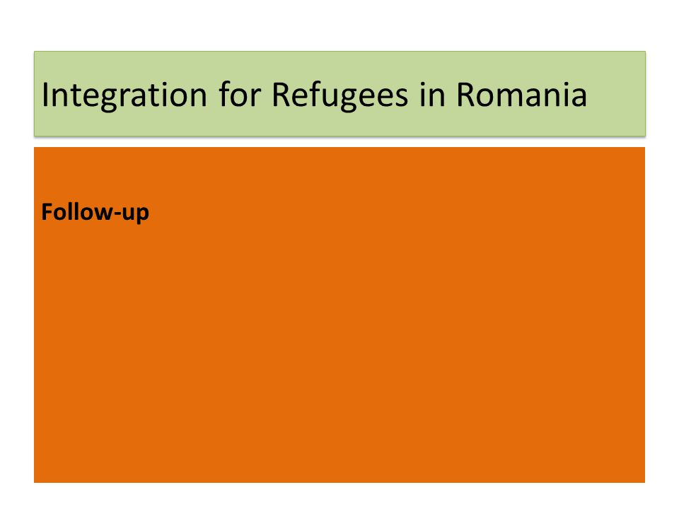 Integration for Refugees in Romania Follow-up