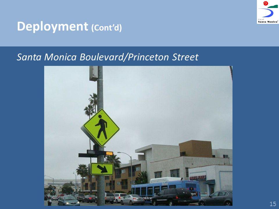 Deployment (Contd) Santa Monica Boulevard/Princeton Street 15