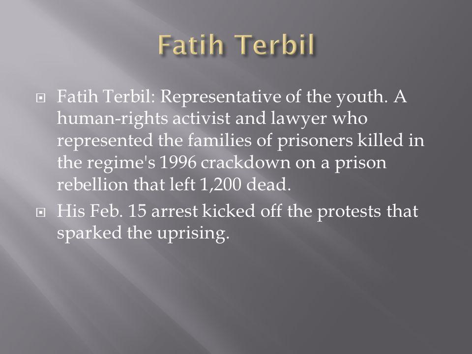 Fatih Terbil: Representative of the youth.