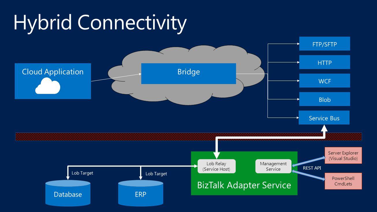 Server Explorer (Visual Studio) PowerShell CmdLets Management Service REST API Lob Relay (Service Host)