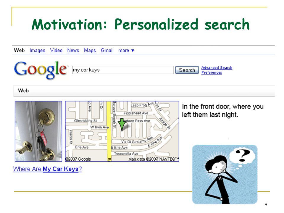 4 Motivation: Personalized search