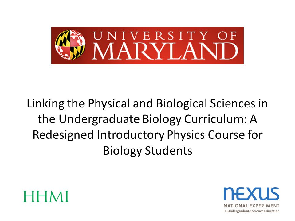 Linking the Physical and Biological Sciences in the Undergraduate Biology Curriculum: A Redesigned Introductory Physics Course for Biology Students