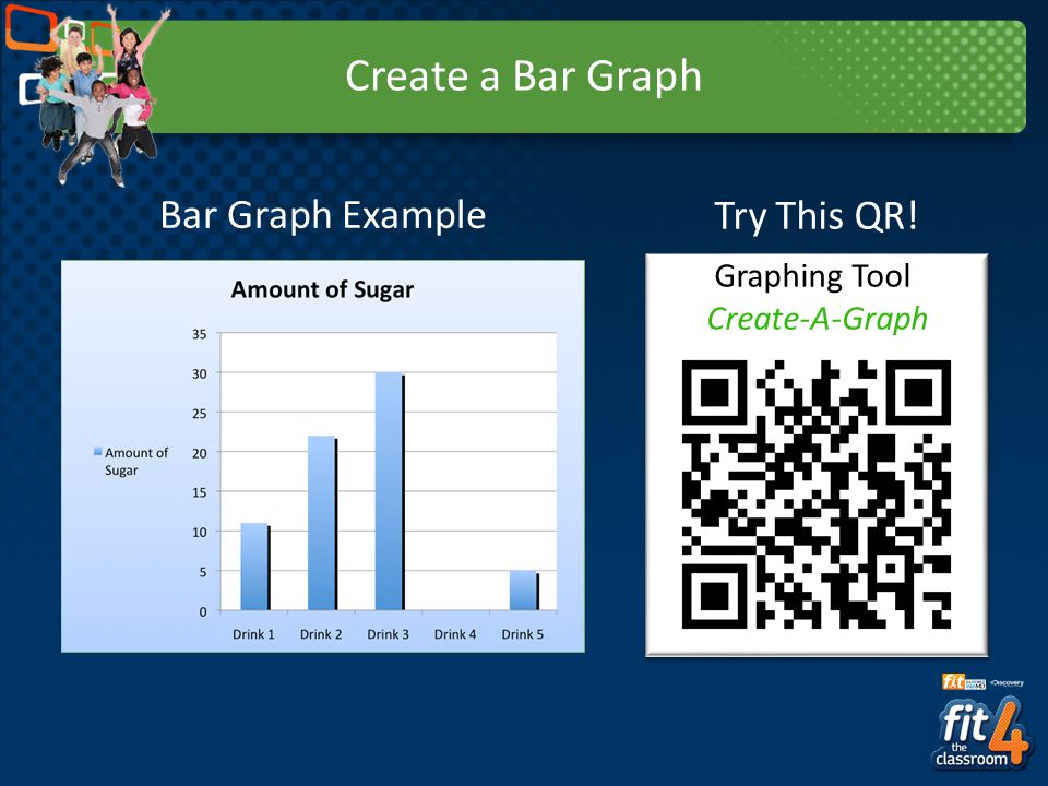 Create a Bar Graph Try This QR! Graphing Tool: Create-A-Graph Bar Graph Example