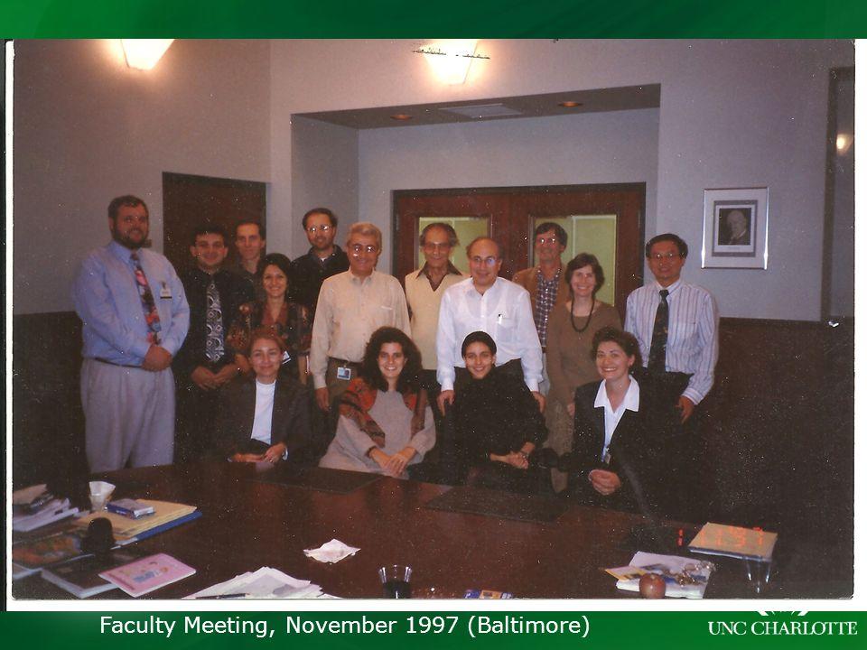 Faculty Meeting, November 1997 (Baltimore)