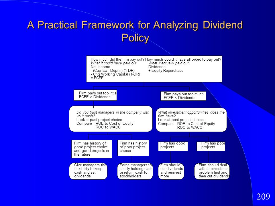 209 A Practical Framework for Analyzing Dividend Policy How much did the firm pay out.
