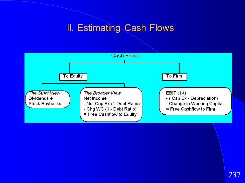 237 II. Estimating Cash Flows