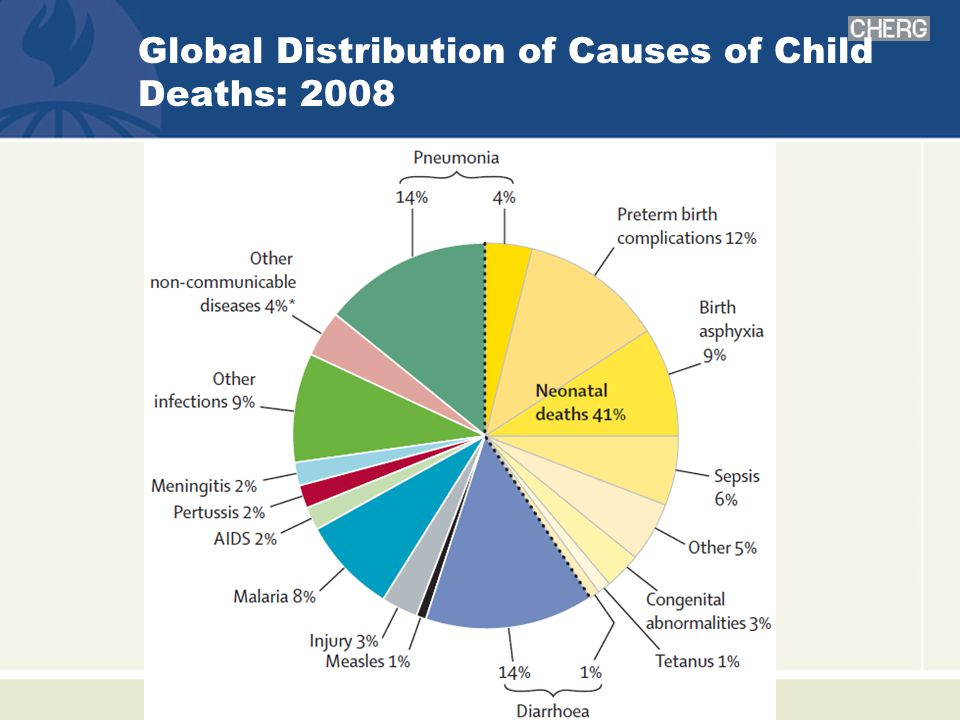 Global Distribution of Causes of Child Deaths: 2008