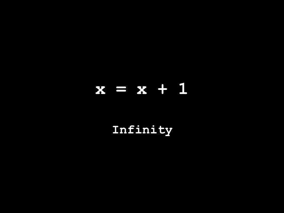 x = x + 1 Infinity