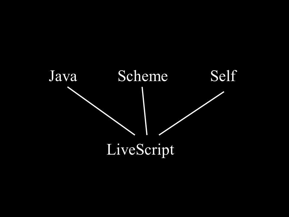 SchemeSelfJava LiveScript