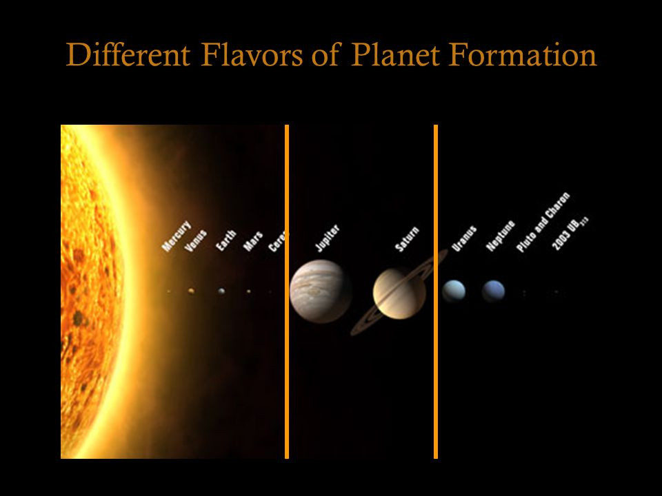 Different Flavors of Planet Formation
