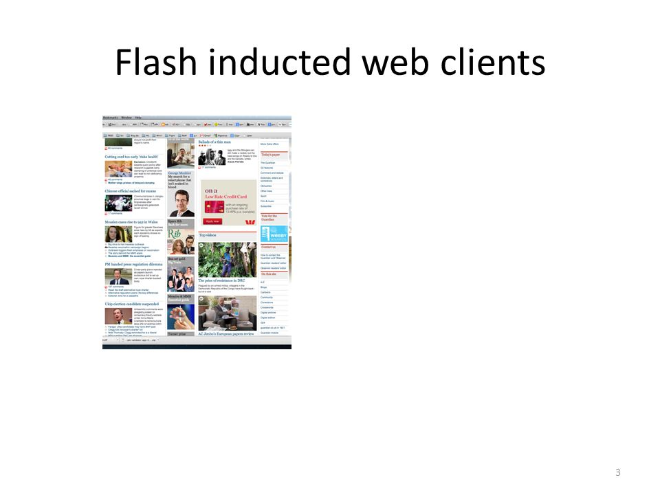 Flash inducted web clients 3