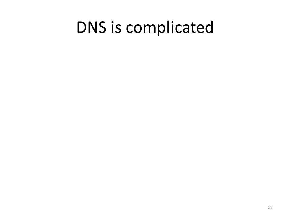 DNS is complicated 57