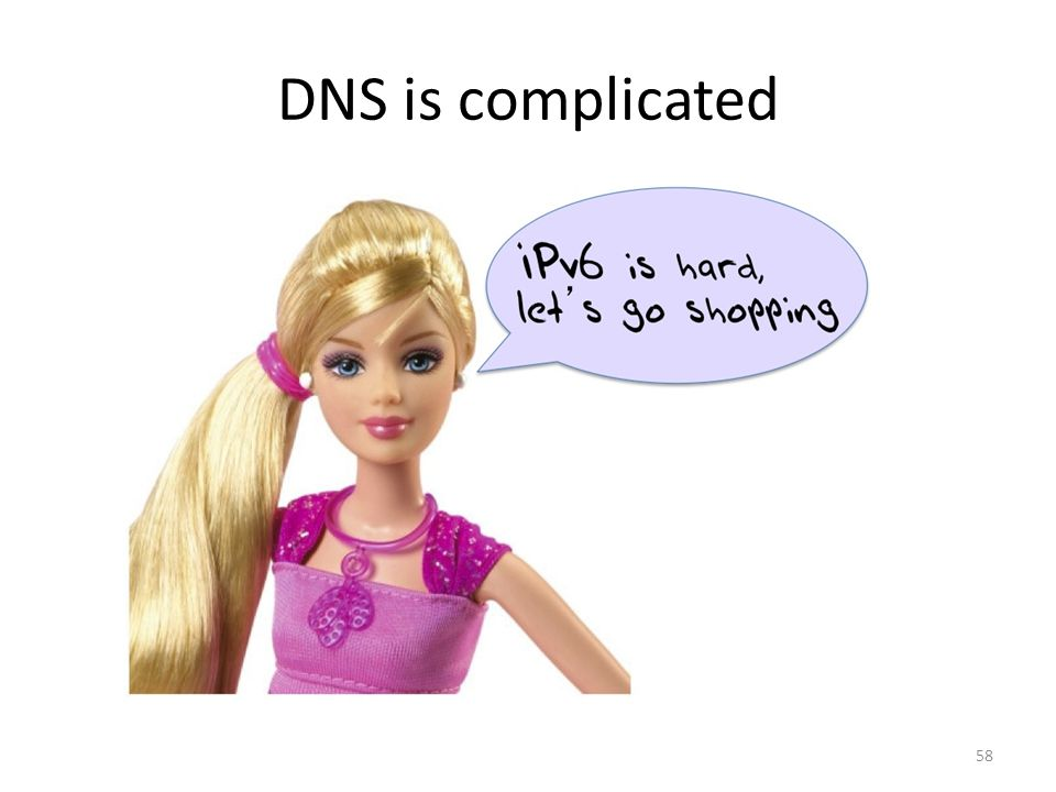 DNS is complicated 58